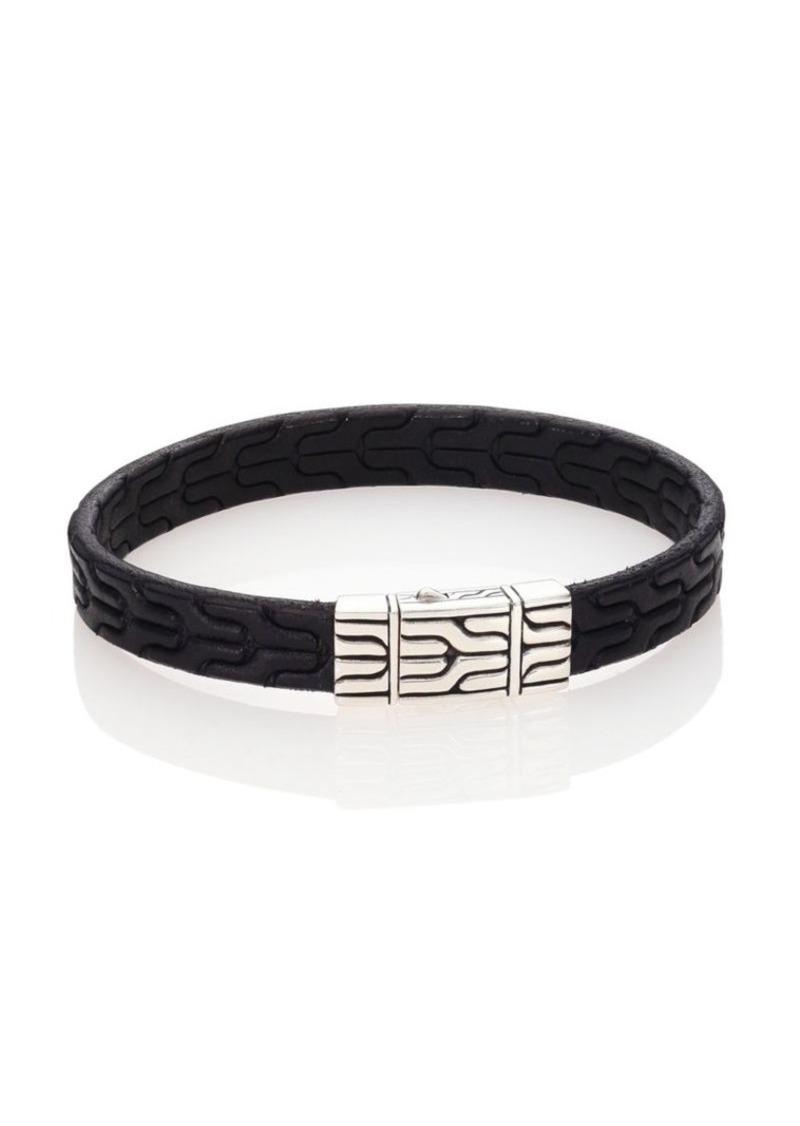 John Hardy Classic Chain Leather & Sterling Silver Bracelet