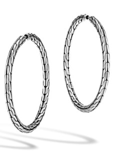 John Hardy 'Classic Chain' Medium Hoop Earrings