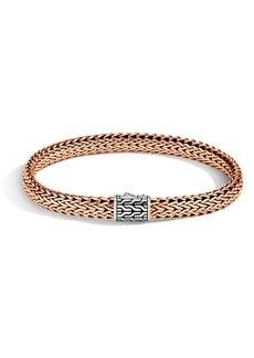 John Hardy Classic Chain Medium Silver & Bronze Bracelet