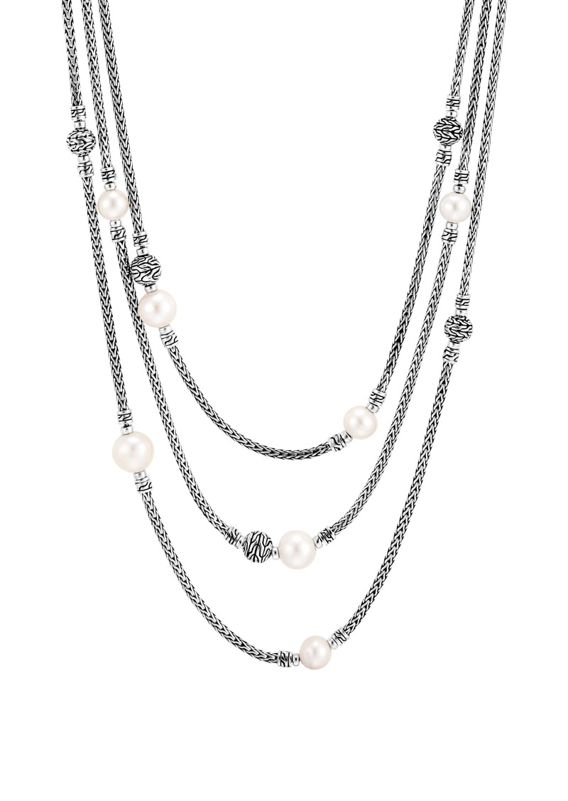 John Hardy Classic Chain Multi Row Necklace