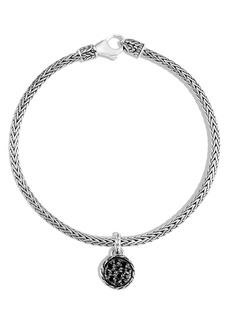 John Hardy Classic Chain Pavé Charm Bracelet