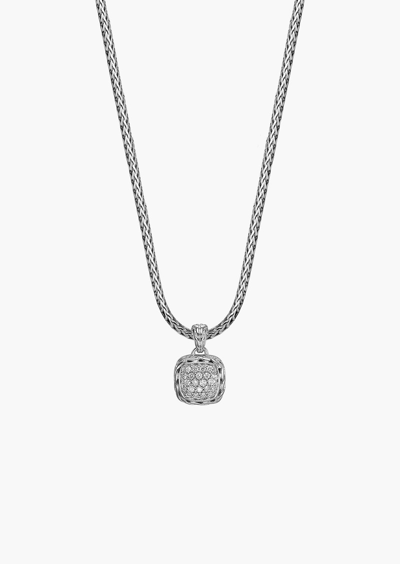 John Hardy 'Classic Chain' Pavé Diamond Pendant Necklace