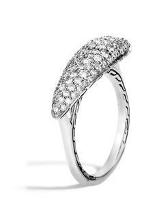 John Hardy Classic Chain Pavé Diamond Ring