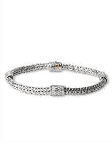 John Hardy 'Classic Chain' Pavé Diamond Station Bracelet