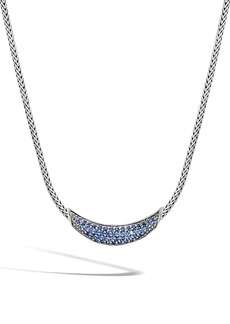 John Hardy Classic Chain Sapphire Arch Necklace