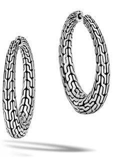 John Hardy Classic Chain Small Hinge Hoop Earrings