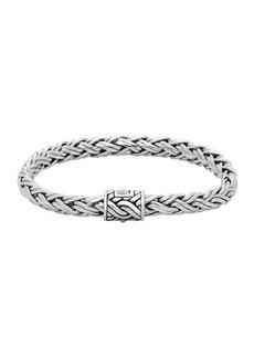John Hardy Classic Chain Small Silver Braided Bracelet
