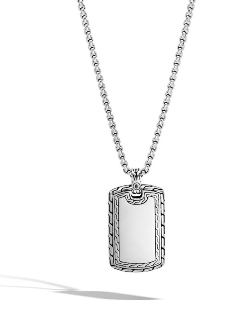 John hardy classic chain sterling silver dog tag pendant necklace classic chain sterling silver dog tag pendant necklace aloadofball Images