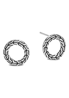 John Hardy Classic Chain Sterling Silver Round Earrings