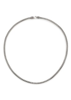 John Hardy Classic Chain Sterling Silver Slim Necklace