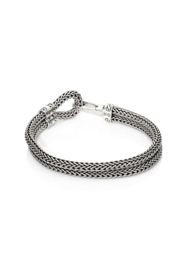 John Hardy Classic Chain Sterling Silver Station Bracelet