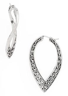 John Hardy Classic Chain Wave Hoop Earrings