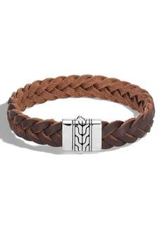 John Hardy Classic Chain Woven Leather Bracelet