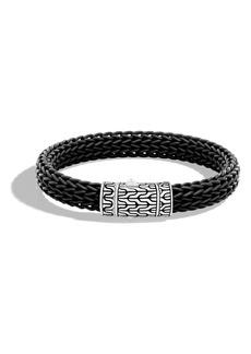 John Hardy Classic Silver Rubber Chain Bracelet