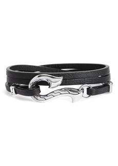 John Hardy Dayak Leather Wrap Bracelet