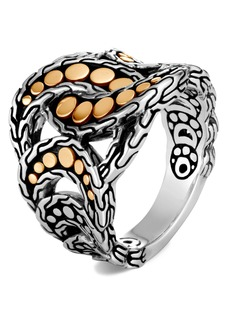 John Hardy Dot 18K Gold & Silver Ring