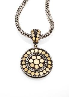 John Hardy Dot 18K Yellow Gold & Steling Silver Small Round Pendant