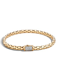 John Hardy Dot Diamond Chain Bracelet