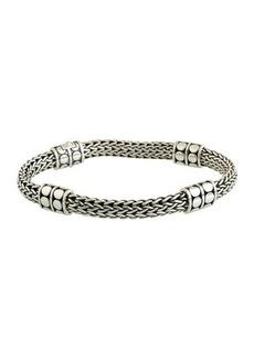 John Hardy Dot Four-Station Medium Silver Bracelet