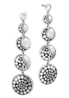 John Hardy Dot Hammered Drop Earrings