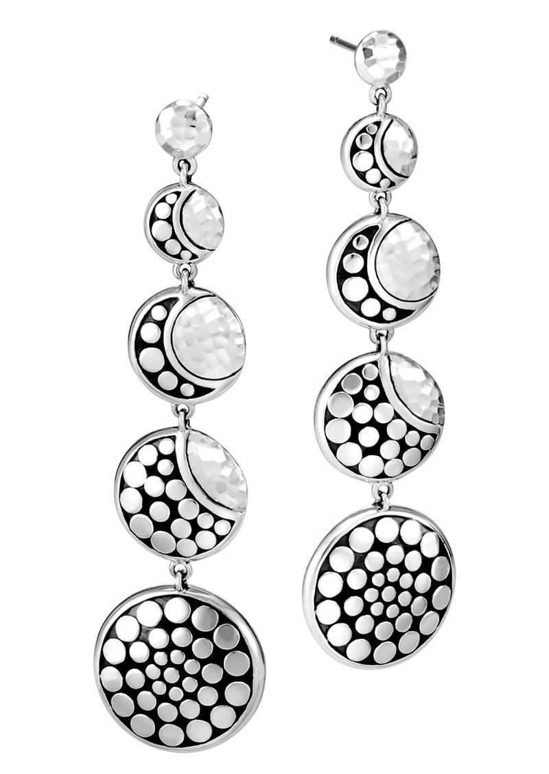 John Hardy Dot Hammered Drop Earrings