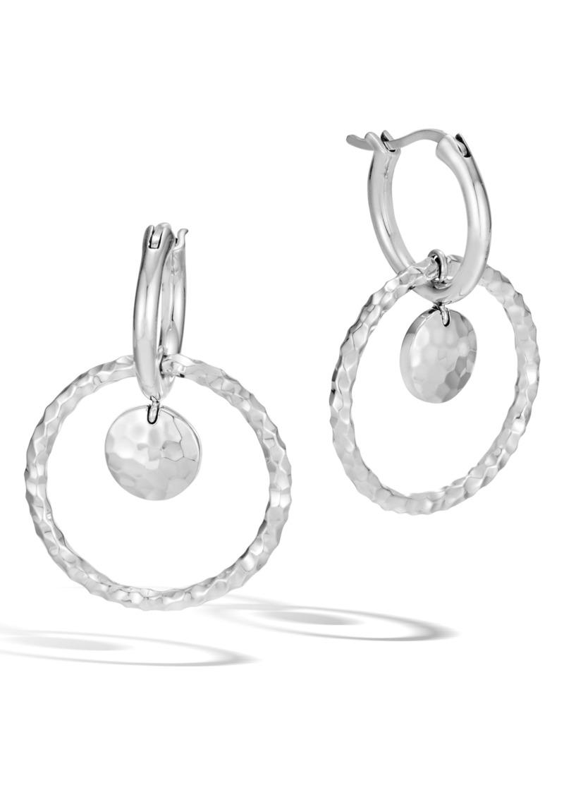 John Hardy Dot Hammered Interlink Earrings