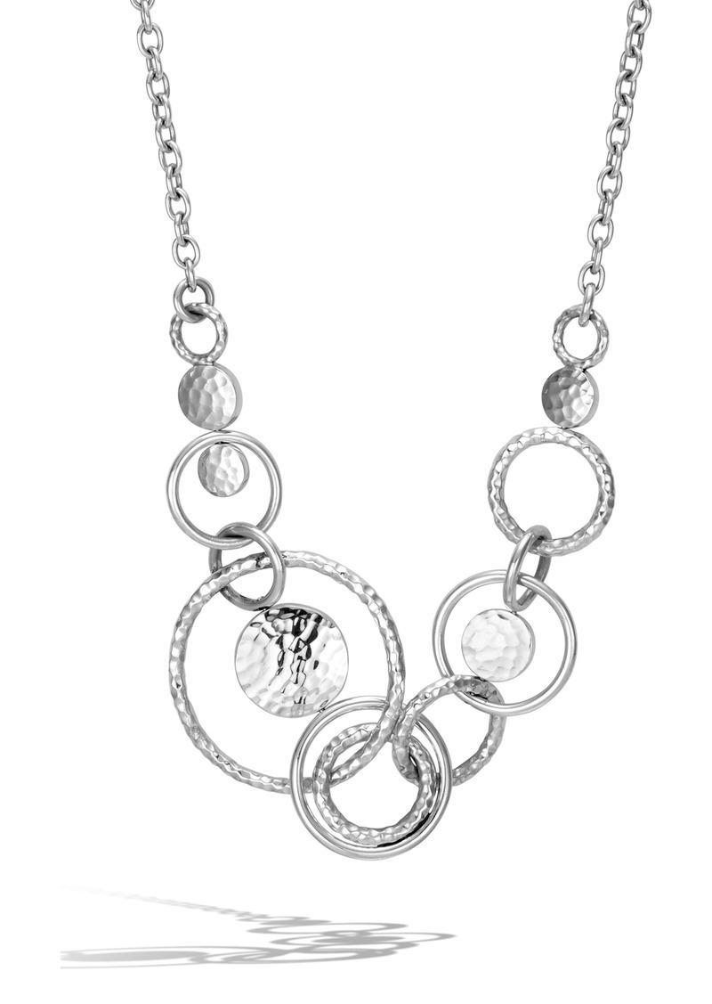 John Hardy Dot Hammered Multi Link Necklace