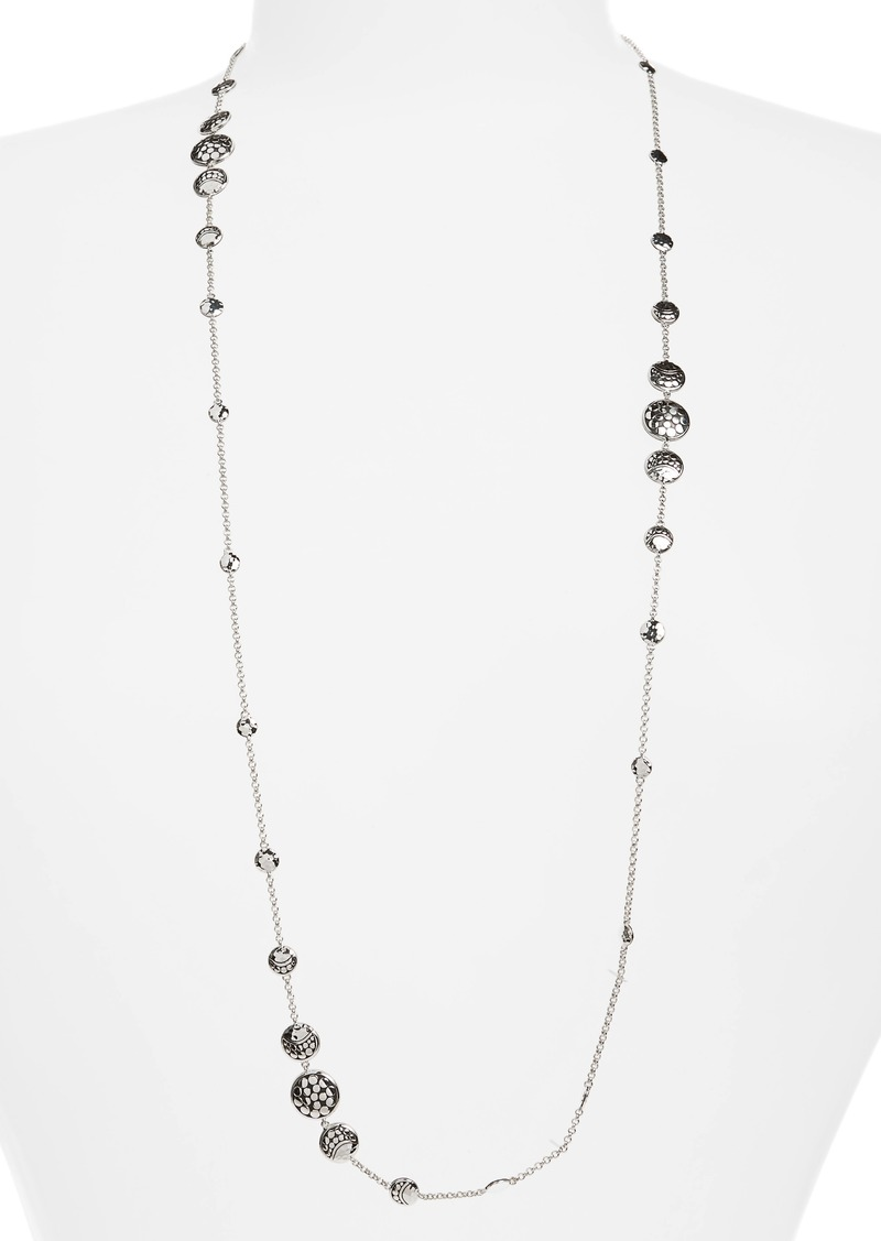 John Hardy Dot Hammered Silver Necklace