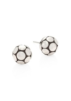 John Hardy Dot Medium Silver Ball Stud Earrings