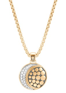 John Hardy Dot Moon Diamond Pavé Pendant Necklace