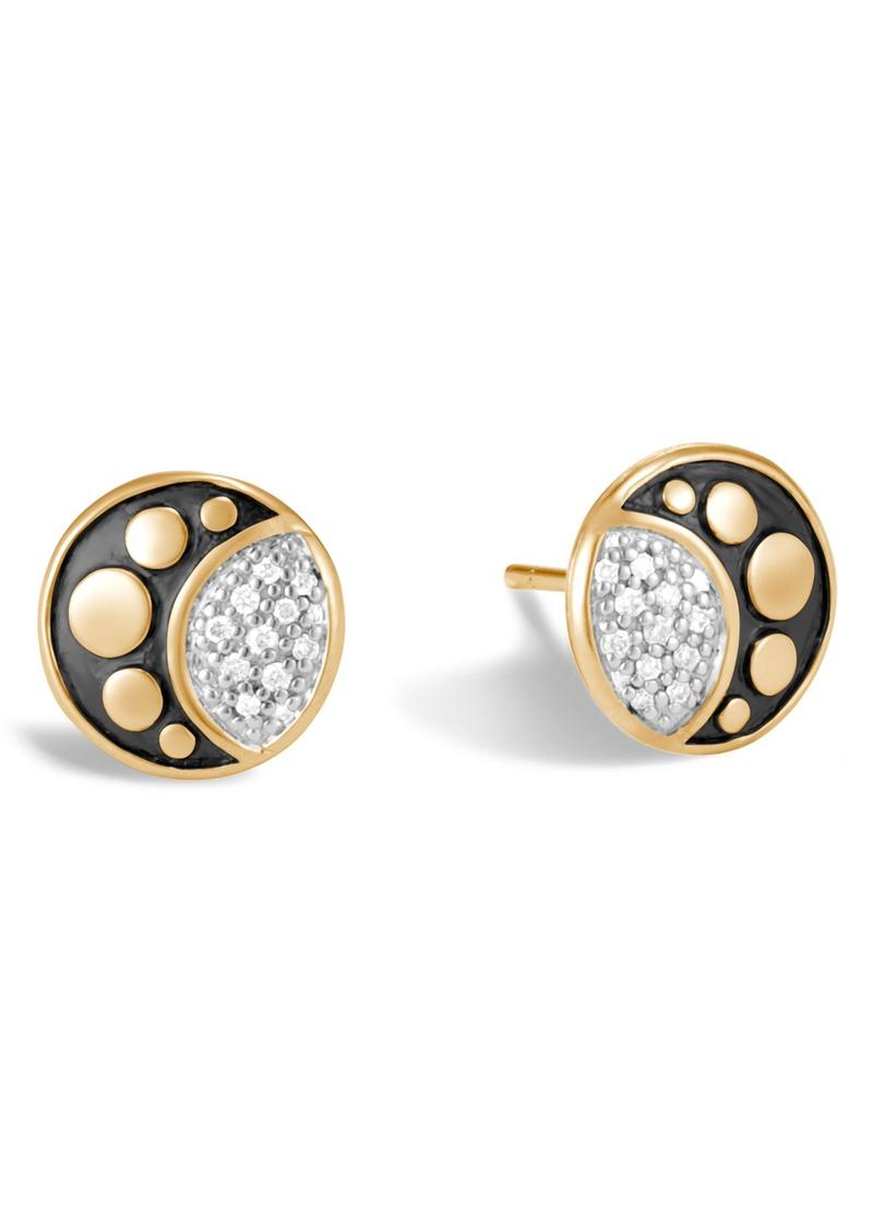 John Hardy Dot Moon Diamond Pavé Stud Earrings