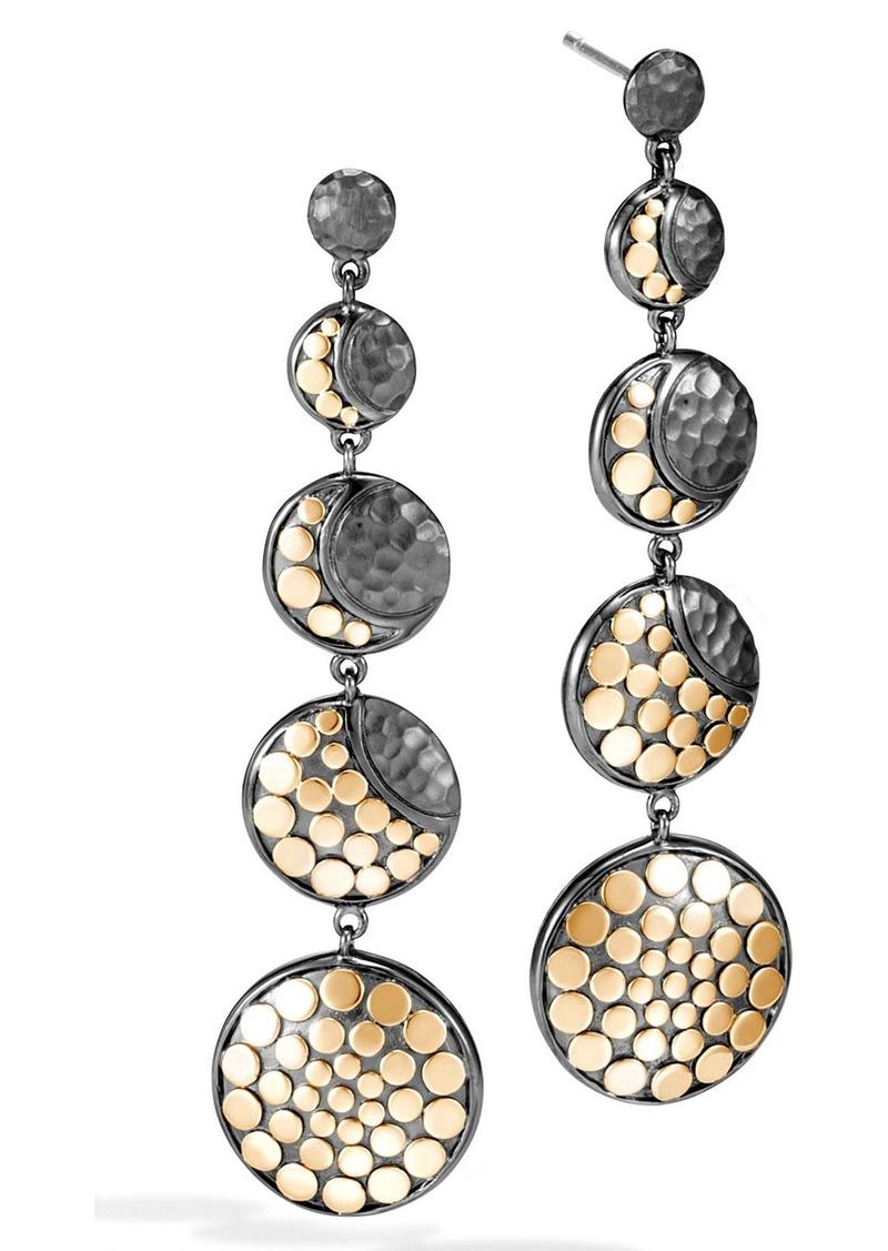John Hardy Dot Moon Phase Drop Earrings