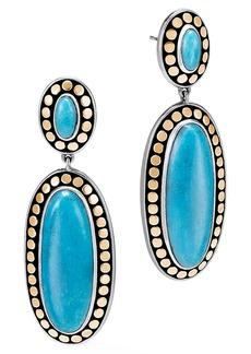 John Hardy Dot Oval Drop Earrings