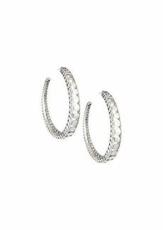 John Hardy Dot Silver Open Hoop Earrings