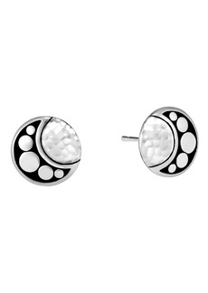John Hardy Hammered Dot Stud Earrings