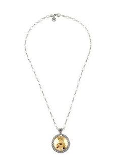 John Hardy Hammered Round Pendant Necklace