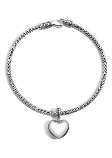 John Hardy Heart Charm Chain Bracelet
