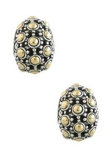John Hardy Jaisalmer 18K Gold & Sterling Silver Buddha Belly Earrings