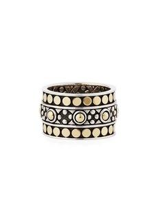 John Hardy Jaisalmer Dot Gold/Silver Band Ring