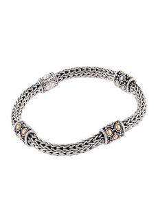 John Hardy Jaisalmer Gold & Silver Four Station Bracelet