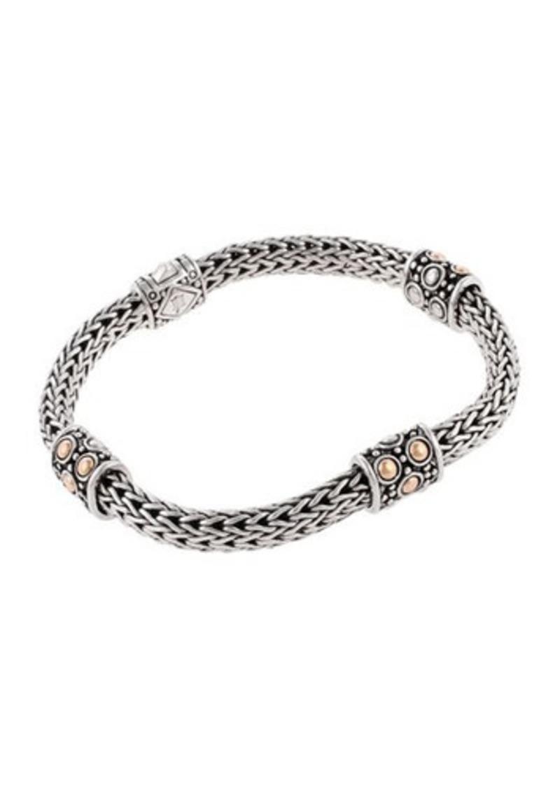John Hardy Jaisalmer Gold Silver Four Station Bracelet