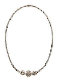 John Hardy Jaisalmer Gold-Silver Three-Bead Necklace