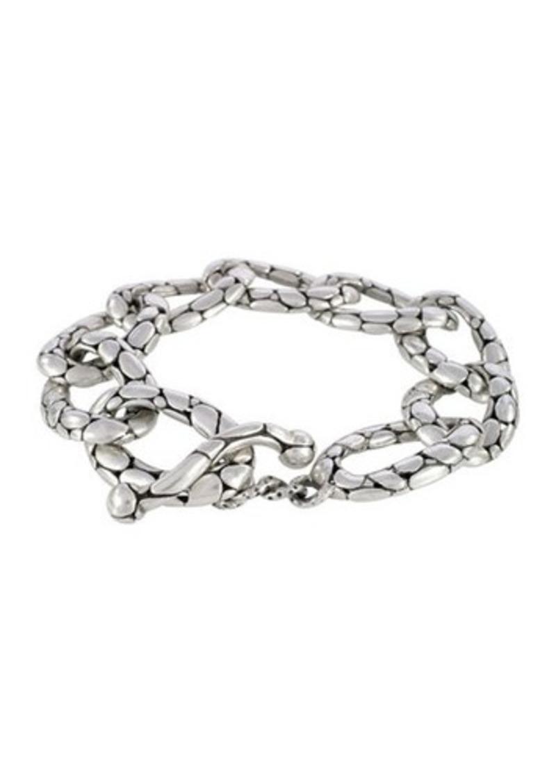 834f595500ad John Hardy John Hardy Kali Pebbled Flat Link Bracelet