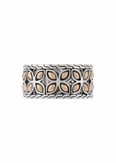 John Hardy Kawung 18K Gold & Sterling Silver Band Ring