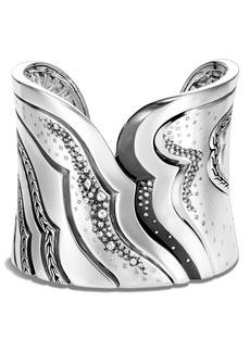 John Hardy Lahar Extra Large Cuff Bracelet with Diamonds
