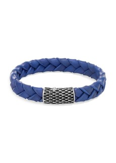 John Hardy Legends Blue Woven Leather Bracelet