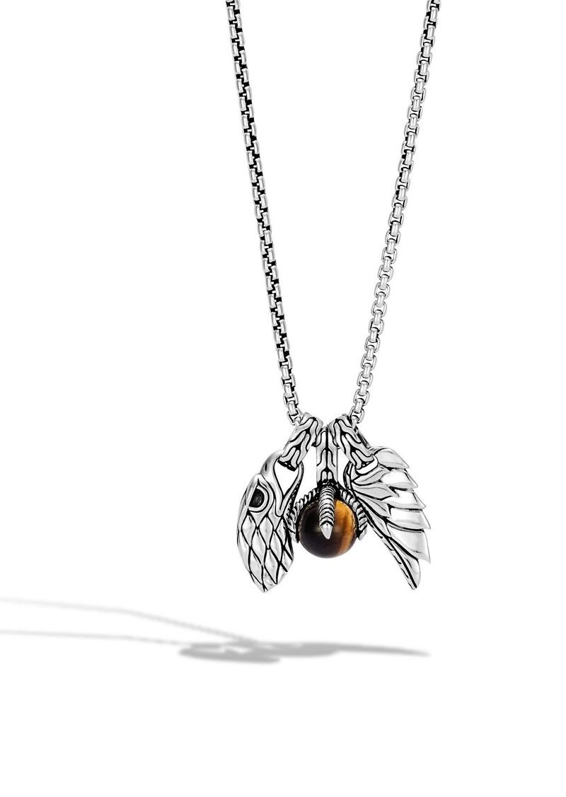 John Hardy Legends Eagle Amulet Pendant Necklace