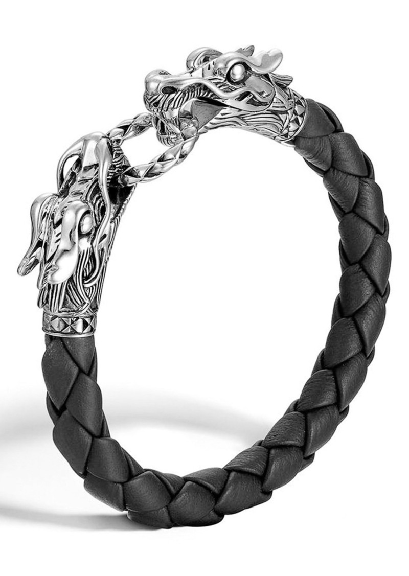 John Hardy 'Legends' Leather Dragon Bracelet