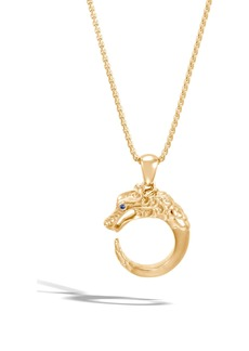 John Hardy Legends Naga 18K Gold Pendant Necklace