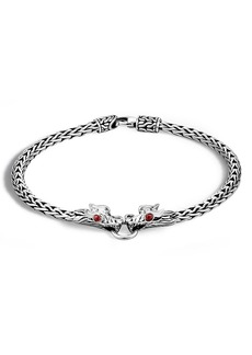 John Hardy Legends Naga 3.5mm Station Bracelet